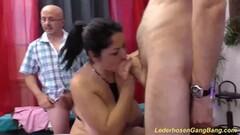 Nasty Amateur fucked in gangbang Thumb