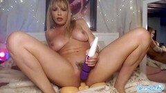 Naughty Dana DeArmond milf toys and cums riding dildo Thumb