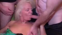 Kinky grandmas first gangbang party Thumb