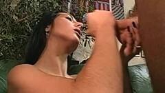 Amateur brunette tugs cock Thumb