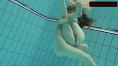 Seductive Nastya and Libuse sexy fun underwater Thumb