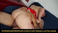 CASTING ALLA ITALIANA - Lusty babe fucked in gaping butt Thumb