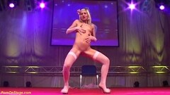 Little teen doll dancing naked on stage Thumb