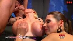 Melanie Moon and Viktoria Goo Cum Cum Swapping Thumb
