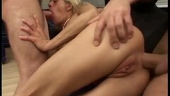 Annette Schwarz Loves Getting Huge Cock Rammed Down Her Throat And Ass Thumb