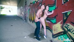 Kinky Outdoor sex with Russian Evelina Darling Thumb