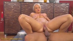 Oily Lilith Lee gives slippery massage Thumb