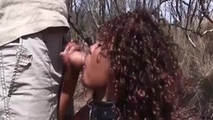 African babe in wild threesome Thumb