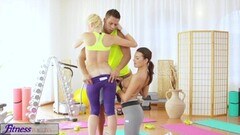 Sexy teens fuck gym teacher's big cock Thumb