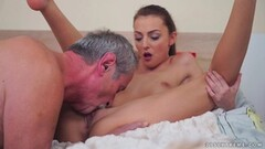 Grandpa slams his dick into Katy Rose Thumb