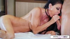 Jessica Jaymes takes Brad's huge cock and gets banged Thumb