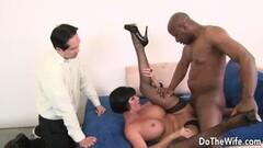 Horny wife Shay Fox takes large black cock Thumb