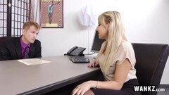 Sexy Blonde Secretary Fucks Her Boss Thumb