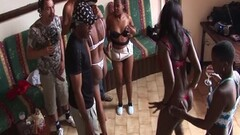 African amateurs fucked in gangbang Thumb