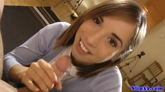 European amateur stuffs her mouth with cock Thumb