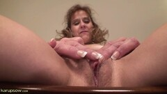Hogtied suspended blonde pussy vibrated Thumb