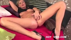 Pink fishnet- Big dick buttplug- cum drenched Thumb