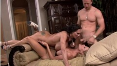 Hot Blonde Ravished In 3some Thumb
