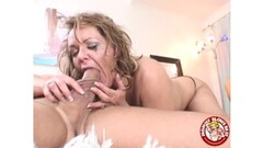 Horny Russian does herself with toys (clip) Thumb