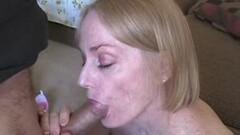 Kinky Amateur Grandma Cougar Likes To Suck Hard Cock Thumb