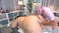 Horny Nude Rubdown for Jumbo Slag Crystal Blue Thumb
