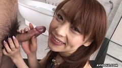 Japanese girl, Miina Yoshihara sucks dick, uncensored Thumb