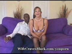 Insane blonde stripping on the sofa Thumb