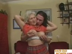 Horny Grandma Felt Up and Fucked Hard Thumb