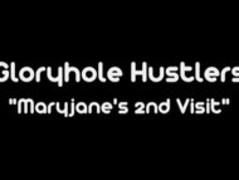 Gloryhole Hustlers Maryjane Johnson Sucks and Swallows Thumb