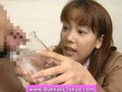 Japanese bukkake cum slut Thumb