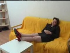Russian Mom Gets Ass Pumped russian cumshots swallow Thumb