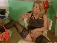 Secretary Sex Black Stockings Thumb