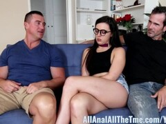 Big Cock fucks her girlfriend camgirl's tight ass Thumb