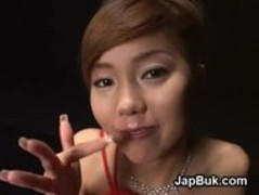 Dirty Japanese girl loves messy cumplay Thumb
