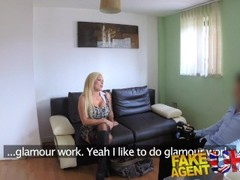 FakeAgentUK Sexy blonde MILF gets a good fucking in hardcore porn interview Thumb