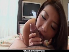 Kaoru moans and gags with great cock in her throat - More at Slurpjp.com Thumb