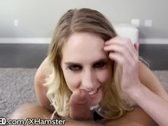 Throated Cadence Lux Gives Nasty, Sloppy Throatjob! Thumb