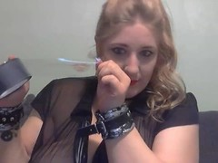 Elle Moon BBW Self Gag Panites and Clear Tape Thumb