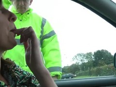 Gorgeous milf seduces police officer Thumb
