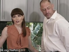 TransSensual Redhead Babe Barebacked & Blowing Daddy! Thumb