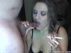 Dual Cigarette Smoking Blowjob - ALHANA WINTER - Vintage RottenStar Clip Thumb