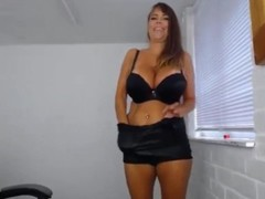 Classy cougar Lolly in sexy boots with huge pierced boobs Thumb