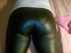 My wifes sweet Ass in leather pants Thumb