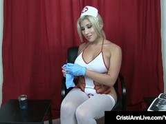 Hot Sperm Bank Nurse Cristi Ann Assists Your Cock! Thumb