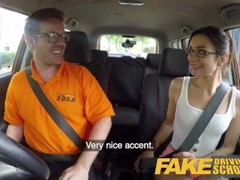 Fake Driving School Hot Italian nympho minx Valentina Bianco craves cock Thumb