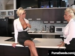 Office Sluts Puma Swede & Bobbi Eden Eat Sweet CoWorker Cunt Thumb