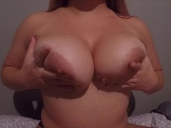 Big tit blonde playing with tits and titfuck til cumshot Thumb