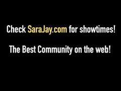White On Black - Sara Jay Fucks A Huge Black Dick! Thumb