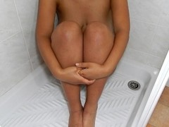 MissFluo - Ebony Hairy Pussy Masturbate to Pulsating Orgasm while Pissing Thumb