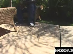 Provocative Blonde MILF Sunny Day Is Fucked Rectally by a Black Man Thumb
